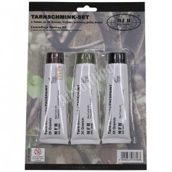 Camo Face Paint, 3 colours 3 tubas per 35 g