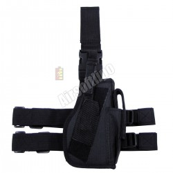 Tactical Holster, black, leg- and belt fixing, right
