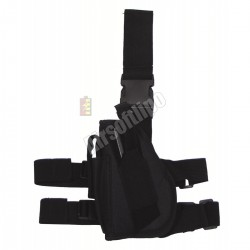 Tactical Holster, leg- and belt fixing, left